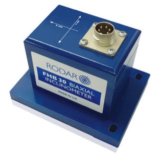 A Dual Axis boxed Inclinometer by RODAR LTD